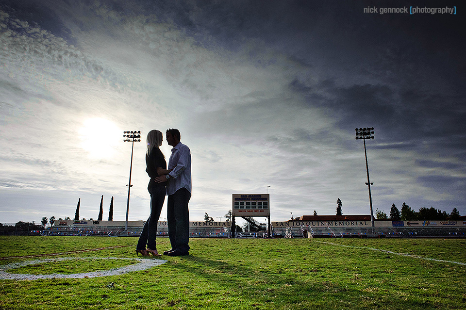 Engagement photos of Andrea & Derek in Fresno CA by Nick Gennock Photography