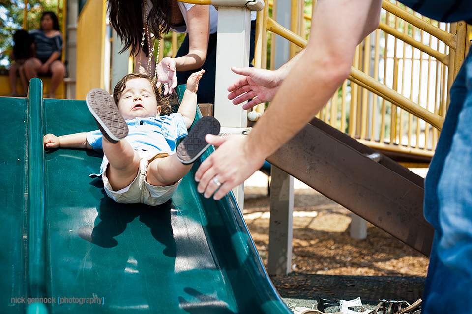 Ethan one year at Woodward Park, Fresno, CA photographed by Nick Gennock Photography