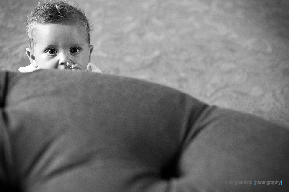 Carson Wyatt 9 Month Portraits by Nick Gennock Photography