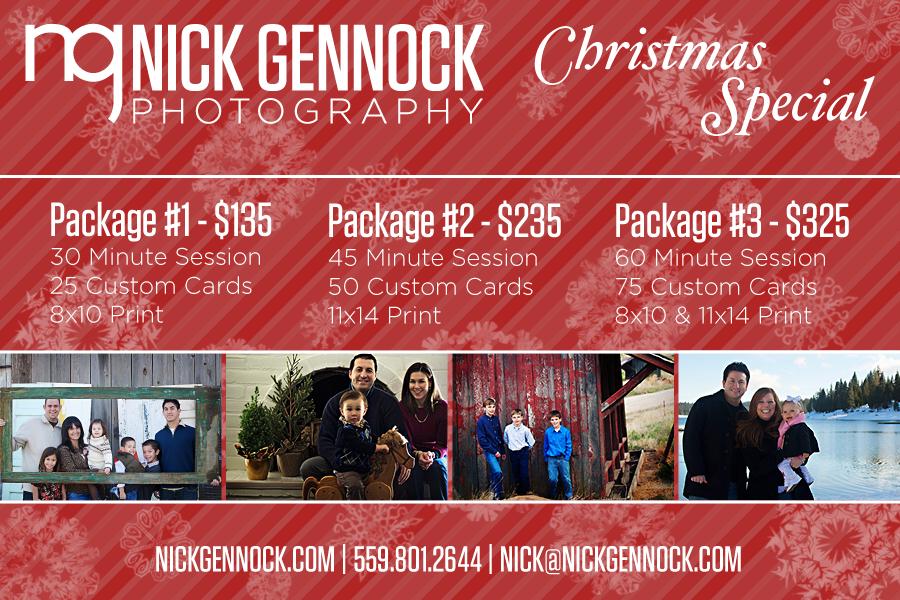 Fresno Family Christmas Portrait Photography by Nick Gennock Photography