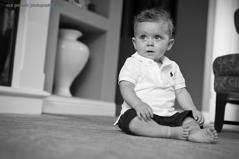 Carson Wyatt 9 Month Portraits by Nick Gennock Photography